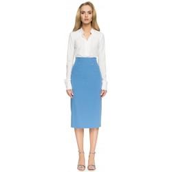 Textiel Dames Rokken Style S065 Koker midi rok - blauw