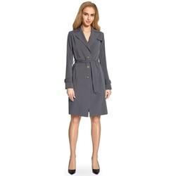 Textiel Dames Trenchcoats Style S094 Trenchcoat - grijs