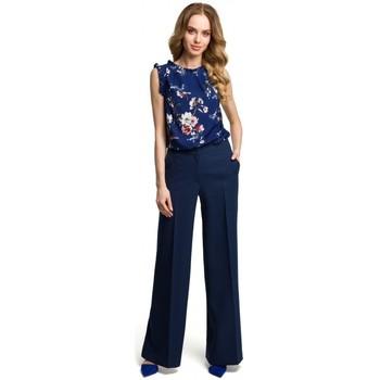 Textiel Dames Losse broeken / Harembroeken Moe M378 Broek met wijde pijpen - marineblauw