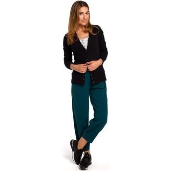 Textiel Dames Vesten / Cardigans Style S198 Vest met drukknopen - zwart