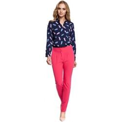 Textiel Dames Losse broeken / Harembroeken Moe M303 Broek met rechte pijpen - roze