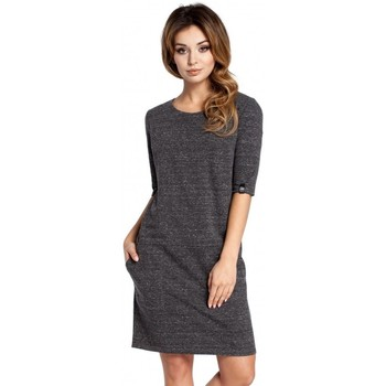 Textiel Dames Jurken Be B033 Box jurk - grafiet