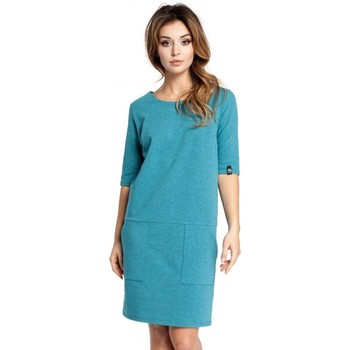 Textiel Dames Korte jurken Be B033 Box jurk - smaragd