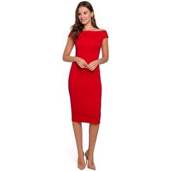 Textiel Dames Korte jurken Makover K001 Gebreide off shoulder jurk - rood