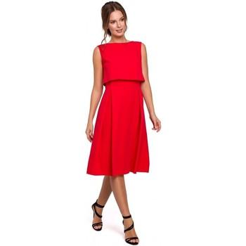 Textiel Dames Jurken Makover K005 Fit & flare jurk met open rug - zwart