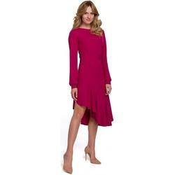 Textiel Dames Lange jurken Makover K077 Jurk met flamenco volant - pruim