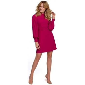 Textiel Dames Korte jurken Makover K077 Jurk met flamenco volant - pruim