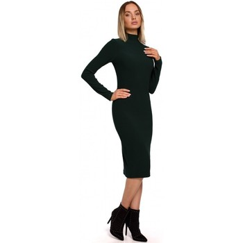 Textiel Dames Lange jurken Moe M543 Print jurk met col - model 1