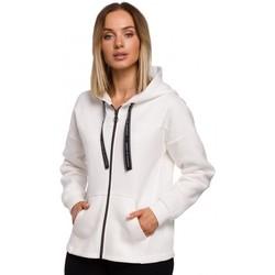 Textiel Dames Sweaters / Sweatshirts Moe M550 Rits hoodie - ecru