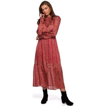 Textiel Dames Lange jurken Style S238 Sukienka midi szyfonowa w groszki - model 3
