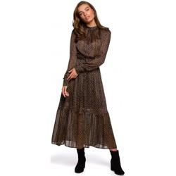 Textiel Dames Lange jurken Style S239 Kokerjurk met ceintuur - zwart
