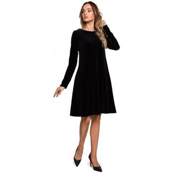 Textiel Dames Korte jurken Moe M566 Fluwelen Relaxed Fit Jurk - kastanjebruin