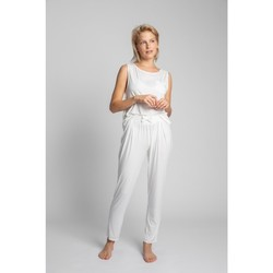 Textiel Dames Pyjama's / nachthemden Lalupa LA025 Viscose Pyjamabroek - ecru