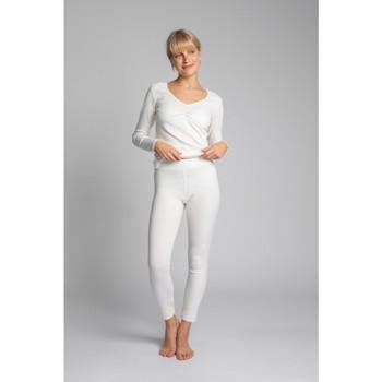Textiel Dames Leggings Lalupa LA035 Geribd katoenen Loungewear Leggings - ecru