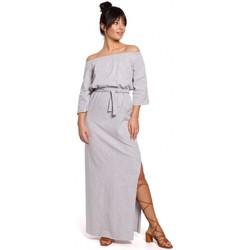 Textiel Dames Jurken Be B146 Off- shoulder maxi jurk - grijs