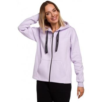 Textiel Dames Sweaters / Sweatshirts Moe M550 capuchon met rits - lila