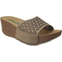 Schoenen Dames Leren slippers Bionatura TELL ETNIC Taupe nubuck
