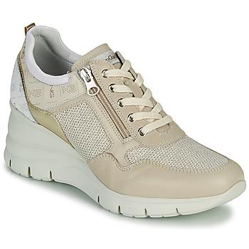 Schoenen Dames Lage sneakers NeroGiardini FLORA Beige / Goud