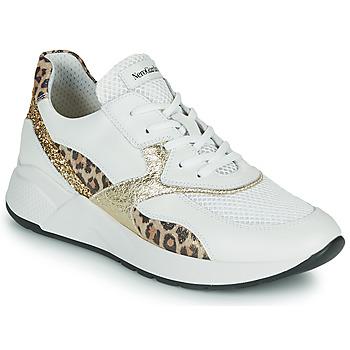 Schoenen Dames Lage sneakers NeroGiardini FIDEL Wit / Luipaard