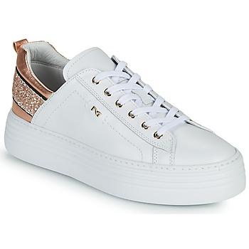 Schoenen Dames Lage sneakers NeroGiardini GATTO Wit / Roze / Goud