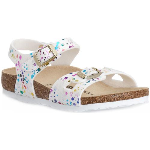 Schoenen Kinderen Sandalen / Open schoenen Birkenstock RIO CONFETTI WHITE CAL S Bianco