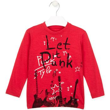 Textiel Kinderen T-shirts met lange mouwen Losan 026-1001AL Rood