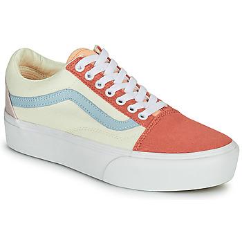 Schoenen Dames Lage sneakers Vans OLD SKOOL PLATFORM Wit / Roze