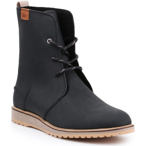 Schoenen Dames Enkellaarzen Lacoste 34CAW0002 black