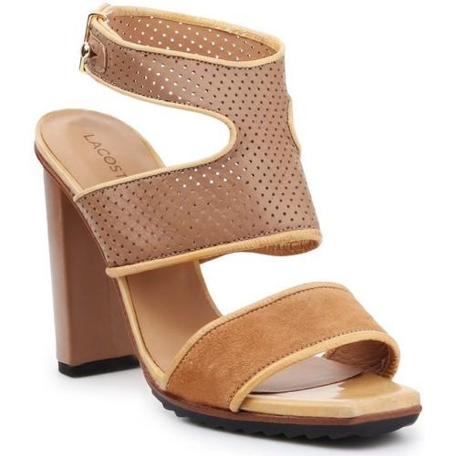 Schoenen Dames Sandalen / Open schoenen Lacoste 7-25SRW1201158 brown