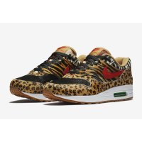 Schoenen Lage sneakers Nike Air Max 1 Animal Wheat/Bison-Classic Green-Sport Red
