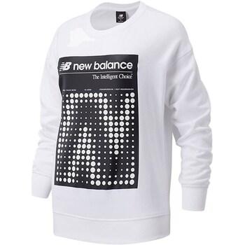 Textiel Dames Sweaters / Sweatshirts New Balance WT03524 White