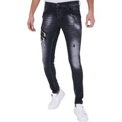 Textiel Heren Skinny jeans True Rise Spijkerbroek Verfspatten A Zwart