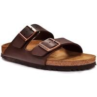 Schoenen Leren slippers Birkenstock ARIZONA Bruin
