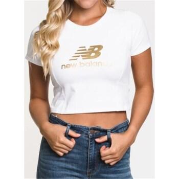Textiel Dames T-shirts korte mouwen New Balance WT03503 White