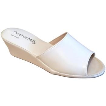 Schoenen Dames Leren slippers Milly MILLY103bia bianco