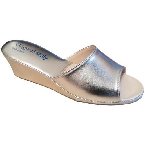 Schoenen Dames Leren slippers Milly MILLY103arg grigio