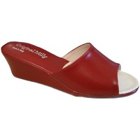 Schoenen Dames Leren slippers Milly MILLY103ros rosso
