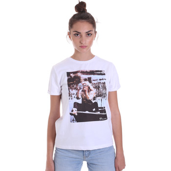 Textiel Dames T-shirts korte mouwen Fracomina F120W03006J00139 Wit