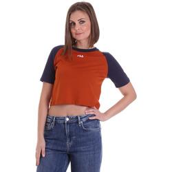 Textiel Dames T-shirts korte mouwen Fila 687919 Oranje