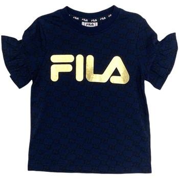 Textiel Meisjes T-shirts korte mouwen Fila 688038 Blauw