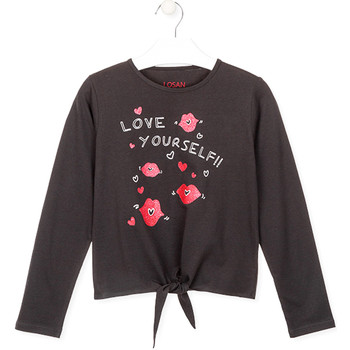 Textiel Meisjes T-shirts met lange mouwen Losan 024-1202AL Grijs