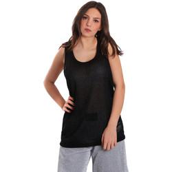 Textiel Dames Mouwloze tops Converse 10007415 Zwart