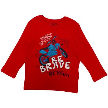 Textiel Kinderen T-shirts met lange mouwen Losan 025-1201AL Rood