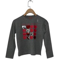Textiel Meisjes T-shirts met lange mouwen Losan 024-1206AL Grijs