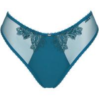 Ondergoed Dames Tanga Lisca Braziliaanse ingesprongen pioenroos Blauw Turquoise