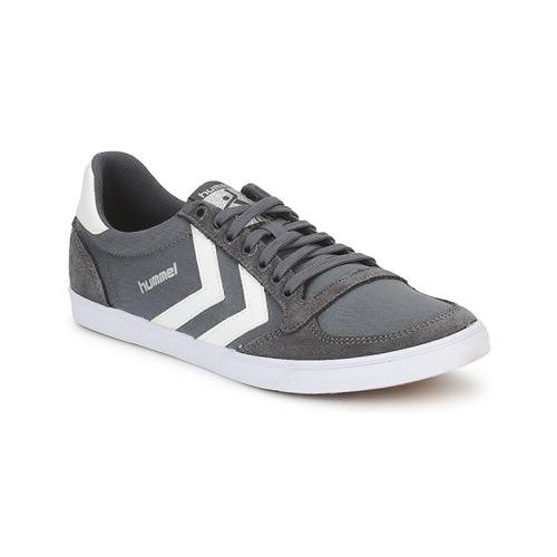 Schoenen Heren Lage sneakers Hummel TEN STAR LOW CANVAS Grijs / Wit
