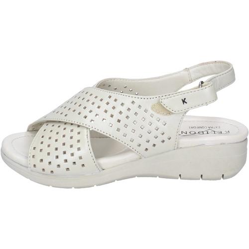 Schoenen Dames Sandalen / Open schoenen Kelidon Sandali Pelle Beige