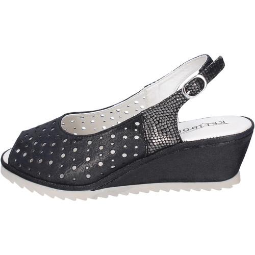 Schoenen Dames Sandalen / Open schoenen Kelidon Sandali Camoscio Nero