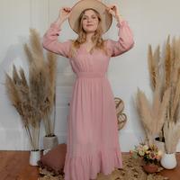 Textiel Dames Lange jurken Céleste COLOMBE Roze