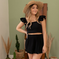 Textiel Dames Korte broeken / Bermuda's Céleste MAGNOLIA Zwart